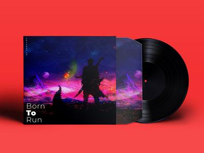 Born to Run illustrator minimal animation vector music typography neelbhavsar music album illustration design