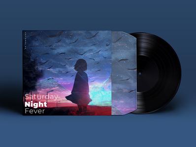Saturday Night Fever minimal illustrator vector animation typography neelbhavsar music album music illustration design