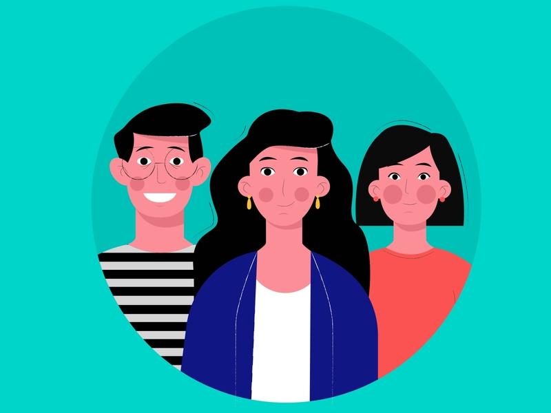 Office // Team // Colleagues // Limited Color Palette illustration adobeillustator adobeillustration vectorillustration vector colleagues team office limited color palette