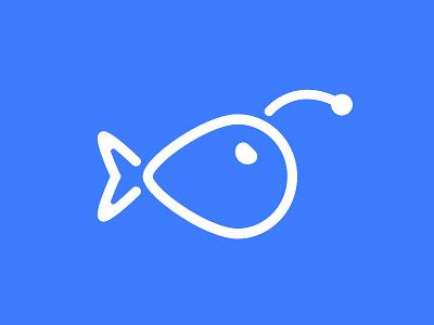 Anglerlight Logo (better quality) bespoke graphics angler lights design logo fish