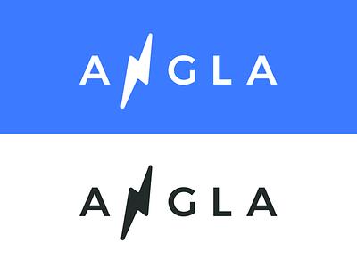 Angla logo reboot branding bolt redesign light angler reboot redo angla logo