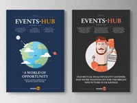 Magazine cover for events hub