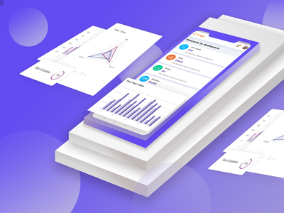 Admin dashboard design for mobile view
