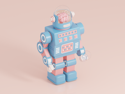 Robot animation 3d artist render isometric illustrator illustration blender 3d blender 3d illustrator 3d art 3d