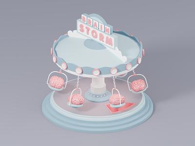 Brain Storm branding c4d render isometric illustrator blender blender 3d 3d illustrator 3d art 3d