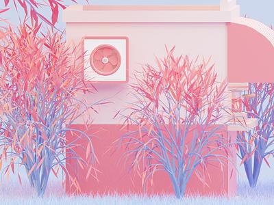 Magic tree modeling 3dmodel ux ui pink trendy design render trees coffee shop branding web design 3d art illustrator c4d blender 3d blender 3d illustrator 3d