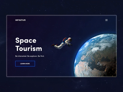 Space Tourism night sky sky webinterface toursim calendar mars jupiter spaceman space design web animation ux ui interface