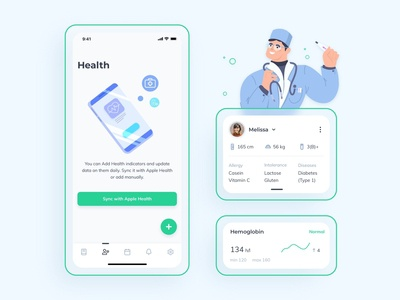 Medical Records App 2 medical care medical design doctor health app healthcare health medical app medical clean clean design clean app ui ux mobile uiux minimal app ux interface ui