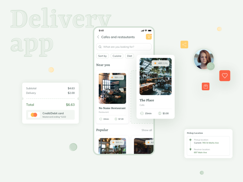 DeliWell Delivery App ui kit design delivery service delivery app delivery sale ui kit ios uiux app ux ui interface