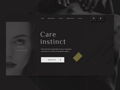 Domestic Violence Support Service concept scroll animation scroll interaction motion uiux ux ui interface abuse victim help center help webdesign web care social services domestic violence domestic violence
