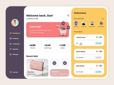 Marketplace Platform Design Concept ux animation motion dashboard webdesign website platform seller sell marketplace online shopping ecommerce add to cart buy fashion minimalist minimal store uiux