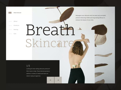 Skincare Brand Website Concept skin care ecommerce design user experience user interface navigation clean brand website website web minimal interface uiux ux ui motion design ecommerce cosmetics skincare branding brand skincare