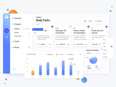On Dash dashboard visualization product navigation web metrics interface grid data dashboard analytics