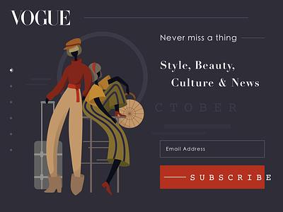 Vogue Magazine Subscription Page vector artwork minimalist design web design web ux ui presentation fashion magazine magazine design fashion uiux homepage hero homepage hero design concept