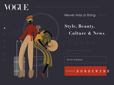 Vogue Magazine Subscription Page