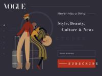 Vogue Magazine Subscription Page