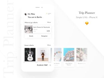 Trip Planner App UI Kit