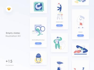 Empty States Illustration UI Kit
