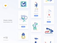 Empty States Illustration UI Kit