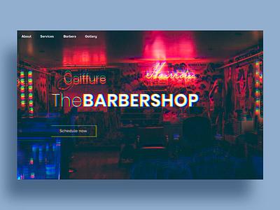 Barbershop Website - Animation ui ux presentation web ux ui animation design interface website barbershop barber