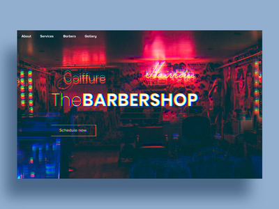 Barbershop Website - Animation ui ux presentation web ux ui animation design interface website barbershop barber