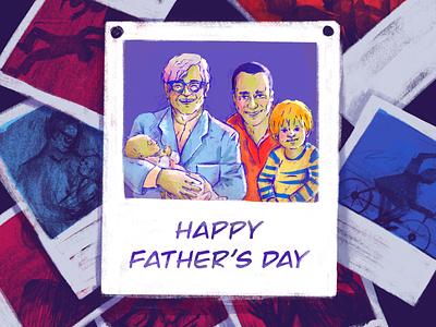 Father's Day Illustration illustraion fathers day fathersday digital art digitalart holiday card art 2d art 2d