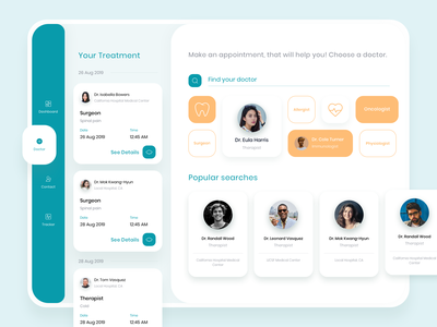 Healthcare App forsale ui kit healthy living health doctor healthcare medical blue clean uiux minimal design web ux flat interface ui