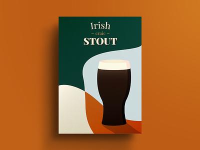 Irish craic beer poster craic stout irish beer ireland poster art poster challenge poster a day poster