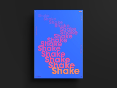 Shake poster art poster collection gradient typo typogaphy poster challenge poster a day poster