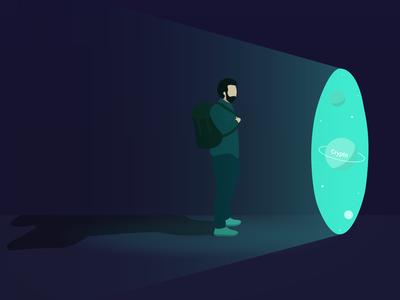 Illustration Backpack Planet