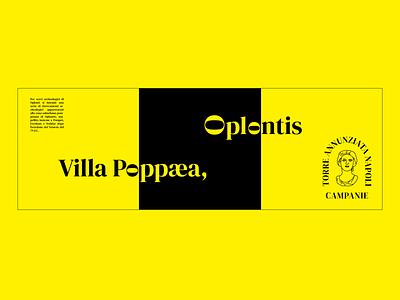 Villa Poppaea black yellow italy italian typography flyer
