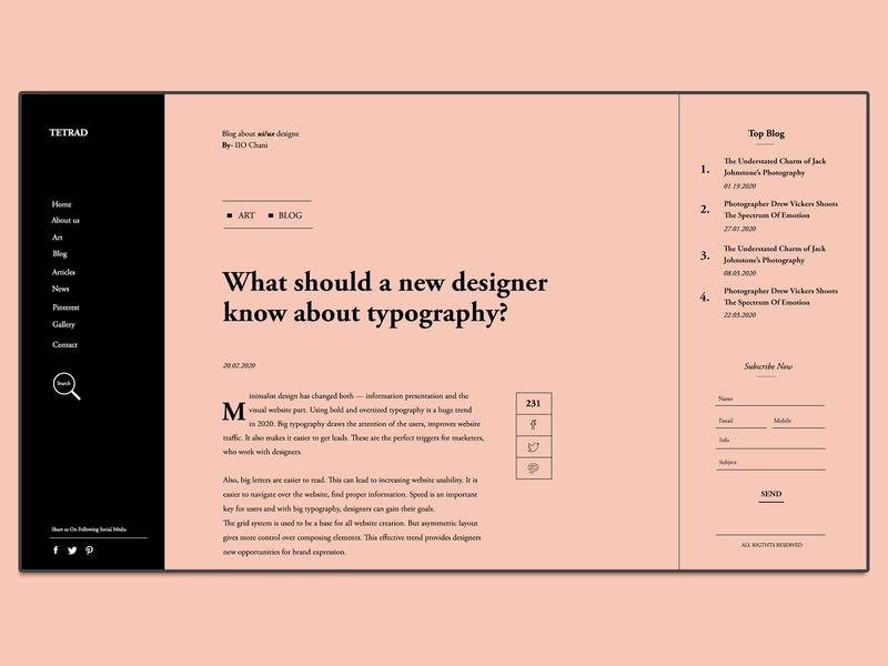 Blog Concept 2.0
