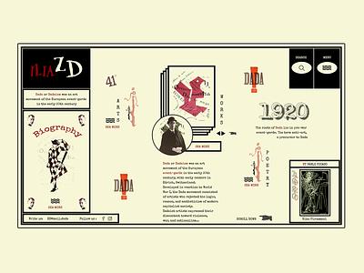 Da da dada - iliazd ilo chani experimental movement avant-garde avant garde iliazd dadaism dada website web design web concept web ui design webdesign