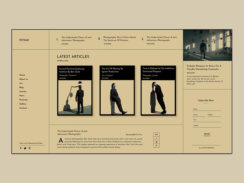 Surreal Blog blog design ilo chani ui colors design experiment website colorful web webdesign web concept