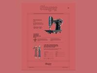 Singer Manufactorar vintage experiment website colorful ui design web webdesign ilo chani web concept