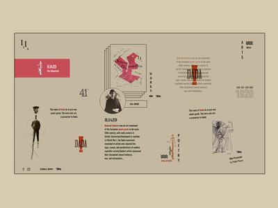 DADA iliazd dadaism dada colorful ui design web design website webdesign ilo chani web concept