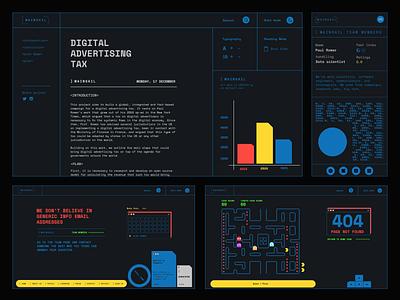 Mainsail ( Collage ) ilo chani 404 error page 404 error 404 pacman coder code developer figma typogaphy web design web web concept webdesign design