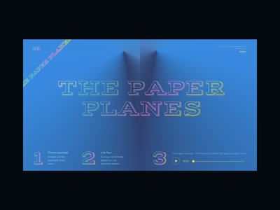 Paper Planes experimental website experiment colorful design web design ilo chani web concept webdesign
