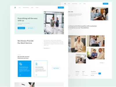 Financial Services Landing Page corporate design website landingpage branding minimal webdesign web ux ui design