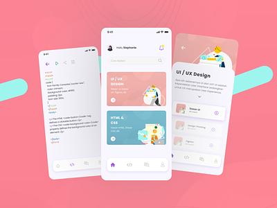 Online Course Apps illustration branding minimal webdesign web ux design ui