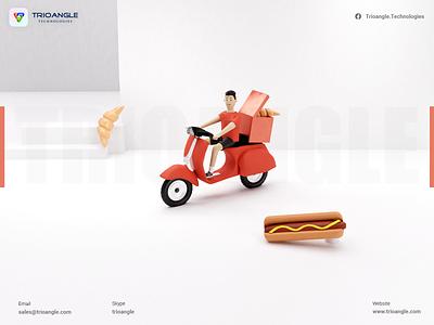 Food Delivery Design - 3D Design vector illustration design logo ui motion graphics graphic design branding animation 3d