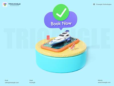 Boat Rental Script - 3D Model app typography 3dmodel blender ux 3danimation 3deyebrows trioangletechnologies 3dmodelling trioangle animation ui branding vector illustration design logo motion graphics graphic design 3d