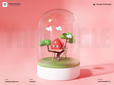 Hotel Booking - 3D Model banner poster interface design airbnb animation model 3dcharacter 3dmascara 3dmodels 3dsmax house glass booking rental room home trioangletechnologies makent trioangle