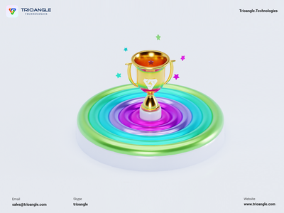 Trophy - 3D Model minimal airbnb design poster banner render model 3d character winner no1 star colors gold win trophy cup trioangletechnologies trioangle