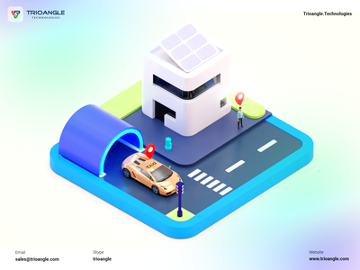 Taxi Booking - 3D Model interface minimal ux ui animation banner poster render model ola track driver car taxi booking car booking uber taxi gofer trioangle technologies trioangle