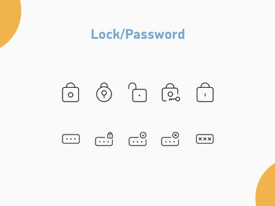 Lock/Password icons password padlock lock illustration design icons