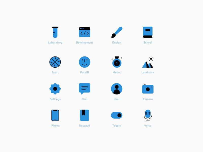 Flat icons flat various interface illustration design icons