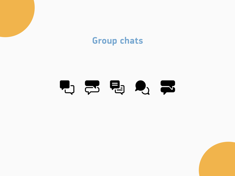 Group chats icons texture bubble message chat illustration design icons