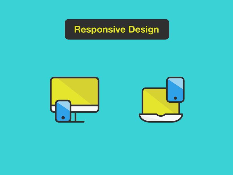 Responsive Design icons laptop desktop responsive illustration design icons