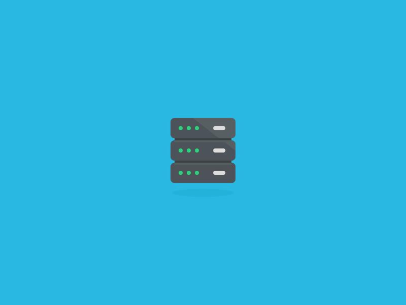 Server icon cloud storage database server illustration design icons